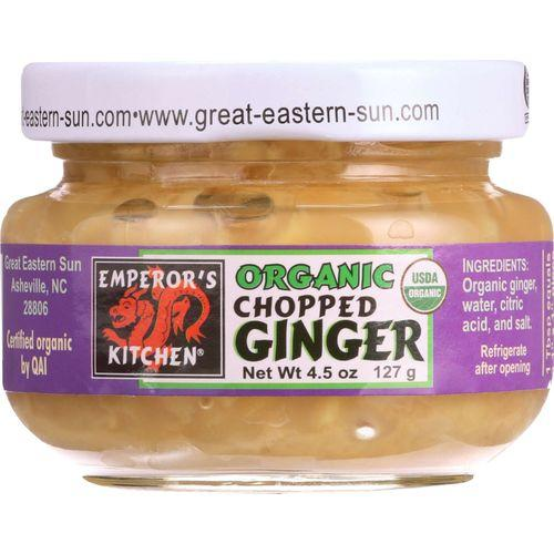 Emperors Kitchen Ginger - Organic - Chopped - 4.5 oz - case of 12