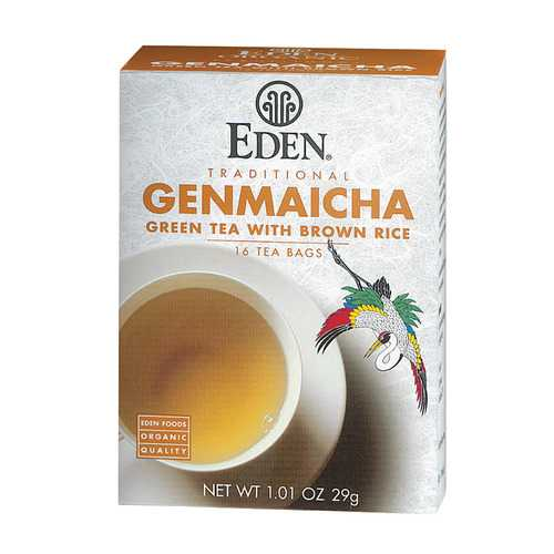 Eden Foods Organic Genmaicha Green Tea - Case of 12 - 16 BAG