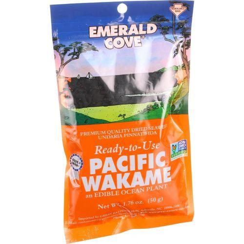 Emerald Cove Sea Vegetables - Pacific Wakame - Silver Grade - Ready to Use - 1.76 oz - Case of 6