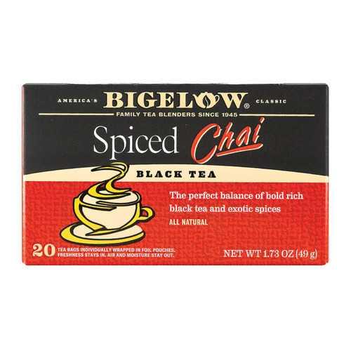 Bigelow Tea Black Tea - Spiced Chai - Case of 6 - 20 BAG