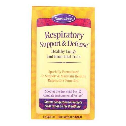 Nature's Secret Respiratory Cleanse and Defense - 60 Tablets