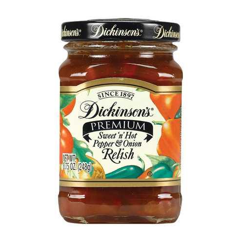 Dickinson Pepper Onion Relish - Case of 6 - 8.75 oz