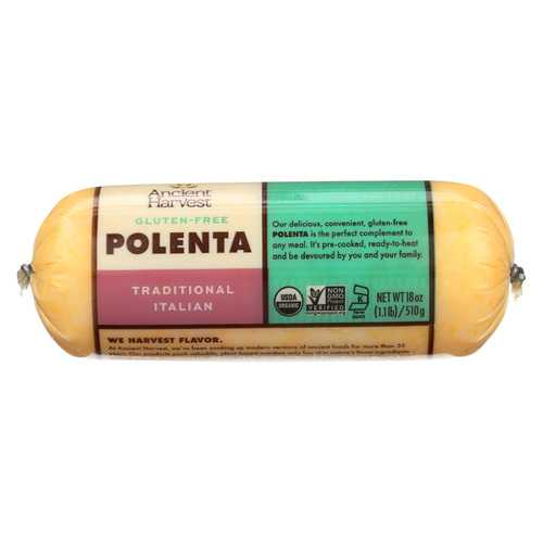 Food Merchants Organic Polenta - Traditional Italian - Case of 12 - 18 oz.