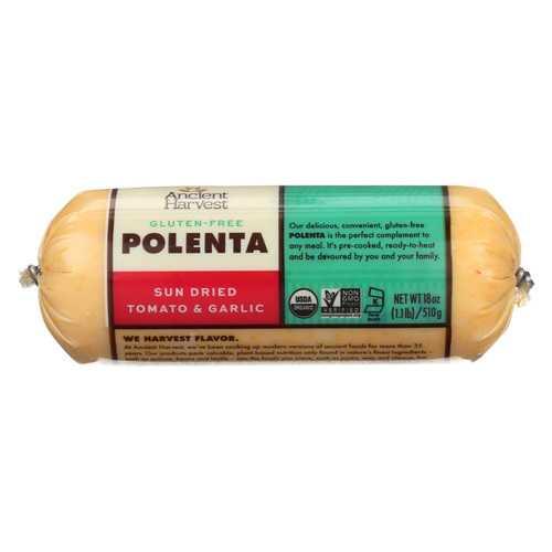 Food Merchants Organic Polenta - Sun Dried Tomato Garlic - Case of 12 - 18 oz.