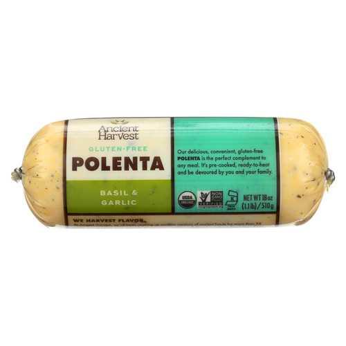 Food Merchants Organic Polenta - Basil Garlic - Case of 12 - 18 oz.