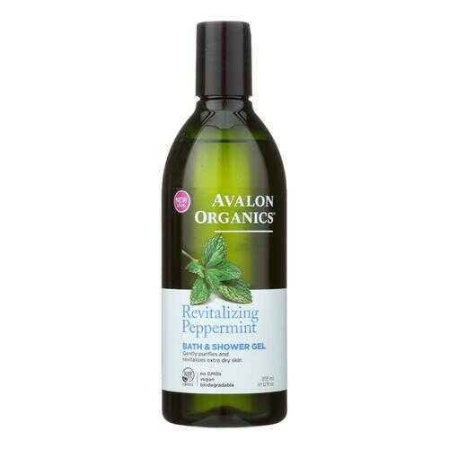 Avalon Organics Bath and Shower Gel Peppermint - 12 fl oz