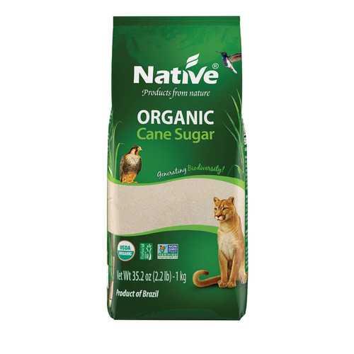 Native Organic White Crystal Cane Sugar - Case of 12 - 2.2 lb.