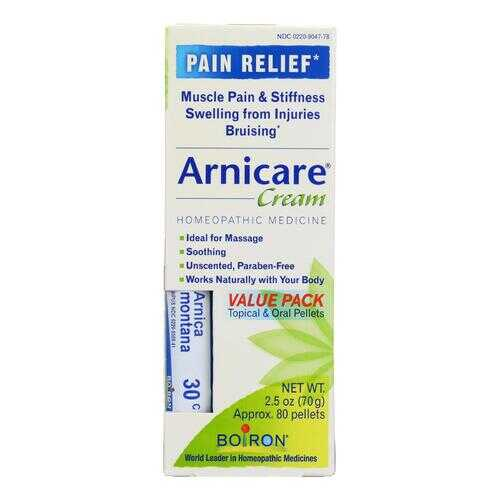 Boiron - Arnicare Cream Value Pack with 30 C Blue Tube - 2.5 oz