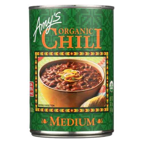 Amy's Organic Medium Chili - Case of 12 - 14.7 oz