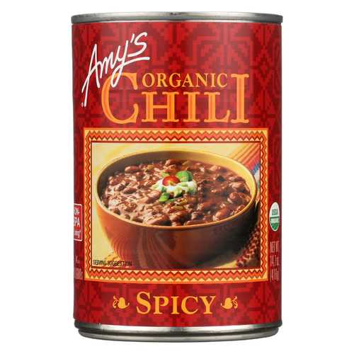 Amy's Organic Spicy Chili - Case of 12 - 14.7 oz
