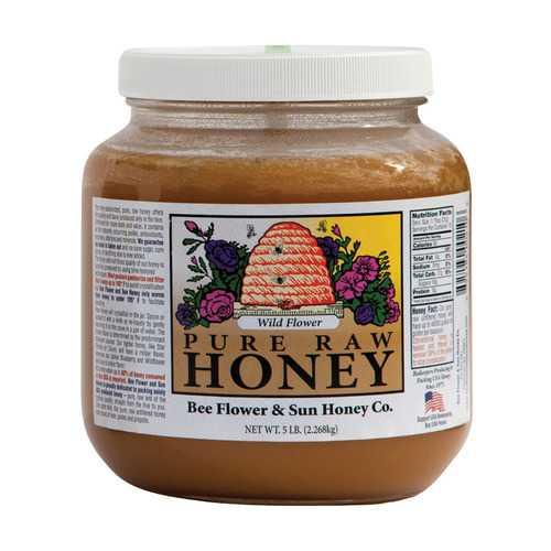 Bee Flower and Sun Honey - Wild Flower - Case of 6 - 5 lb.