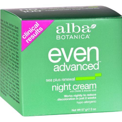 Alba Botanica Natural Even Advanced Sea Plus Renewal Night Cream - 2 oz