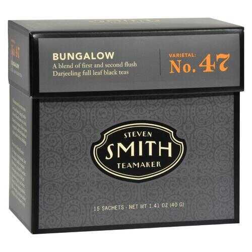 Smith Teamaker Black Tea - Bungalow - Case of 6 - 15 Bags