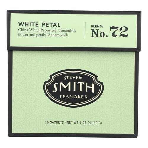 Smith Teamaker White Tea - White Petal - Case of 6 - 15 Bags