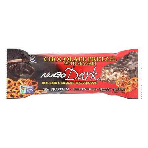 NuGo Nutrition Bar - Dark - Chocolate Pretzel - 1.76 oz - Case of 12