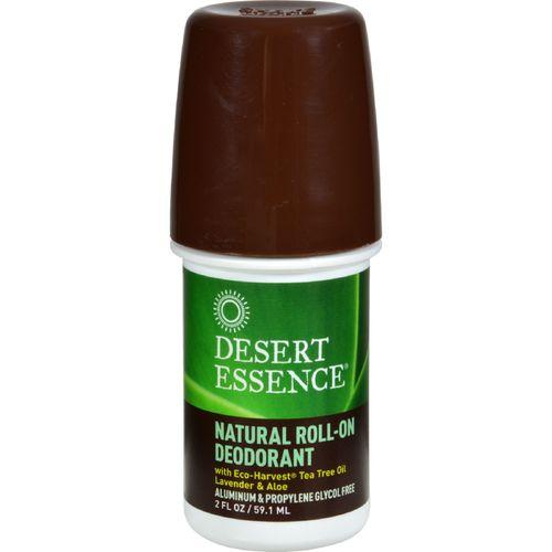 Desert Essence Natural Roll-On Deodorant - 2 oz