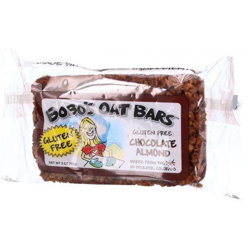 Bobo's Oat Bars - All Natural - Gluten Free - Chocolate Almond - 3 oz Bars - Case of 12