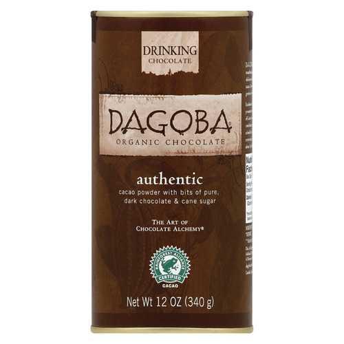 Dagoba Organic Chocolate Authentic Drinking Chocolate - Case of 6 - 12 oz.