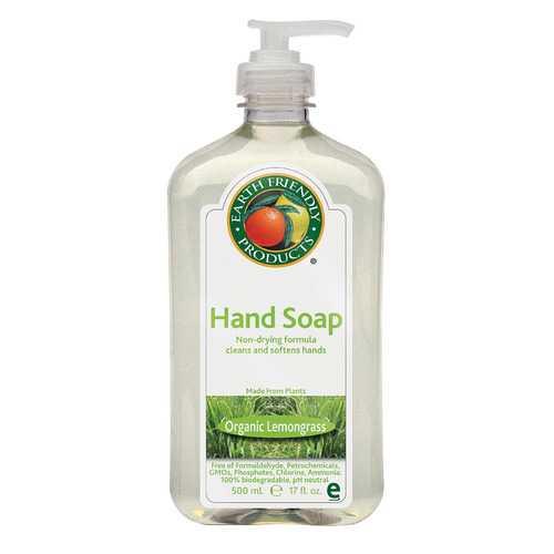 Earth Friendly Hand Soap - Lemongrass - Case of 6 - 17 FL oz.