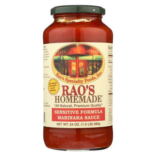 Rao's Specialty Food Homemade Sauce - Sensitive Formula Marinara - Case of 12 - 24 oz.