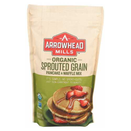 Arrowhead Mills Organic Sprouted Pancake - Waffle Mix - Case of 6 - 26 oz.