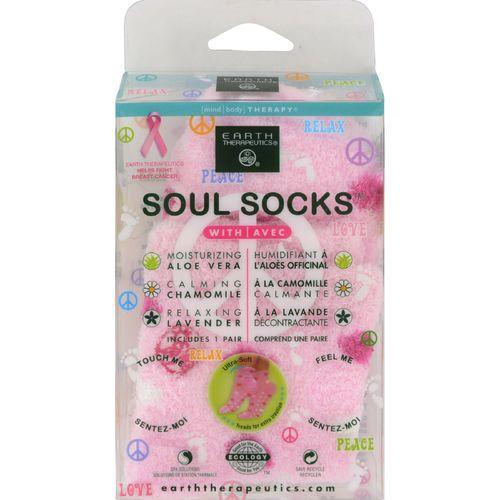 Earth Therapeutics Soul Socks - Pink Polka Dot - 1 Pair