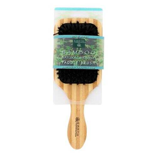 Earth Therapeutics Large Bamboo Natural Bristle Paddle Brush - 1 Brush