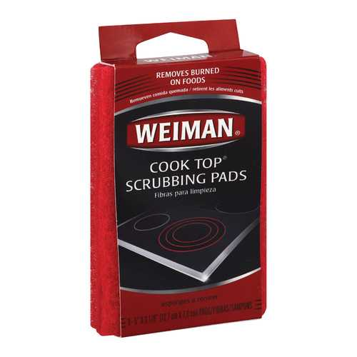 Weiman Pads - Cooktop Scrubbing - Case of 6 - 3 count