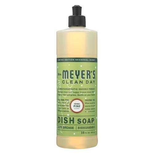 Mrs. Meyers Clean Day - Liquid Dish Soap - Iowa Pine - Case of 6 - 16 FZ