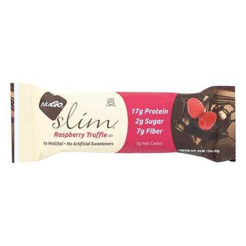 NuGO Nutrition Bar - Slim Raspberry Truffle - 1.59 oz - Case of 12