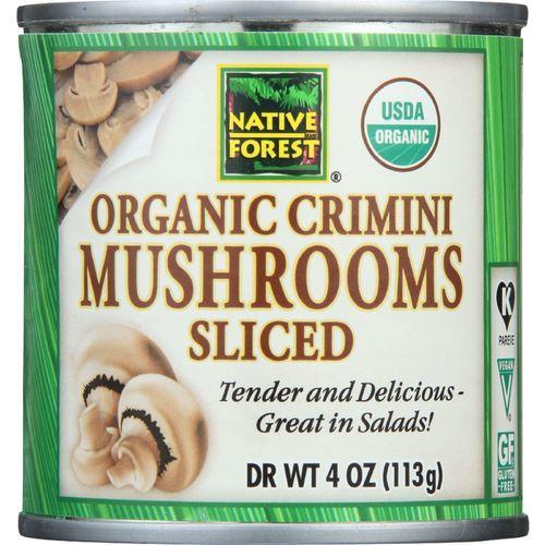 Native Forest Mushrooms - Organic - Crimini - Sliced - 4 oz - case of 12
