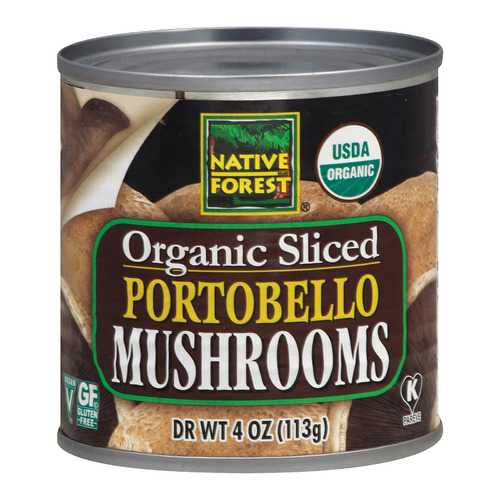 Native Forest Organic Sliced Portobello - Mushrooms - Case of 12 - 4 oz.