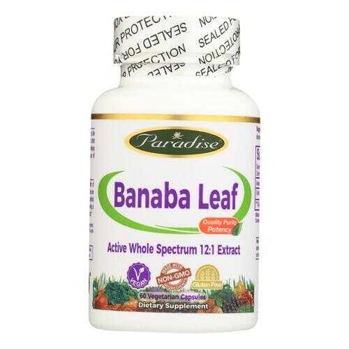 Paradise Herbs Banana Leaf - 60 Vcaps