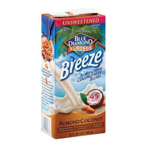 Almond Breeze Almondmilk Coconutmilk Blended - Unsweetened - Case of 12 - 32 fl oz