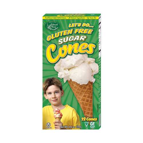 Let's Do Ice Cream Cones - Sugar - Case of 12 - 4.6 oz.