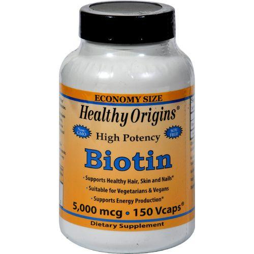 Healthy Origins Biotin - 5000 mcg - 150 Vcaps