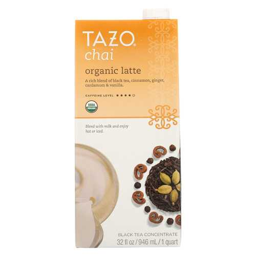 Tazo Tea Organic Tea - Chai Latte - Case of 6 - 32 fl oz