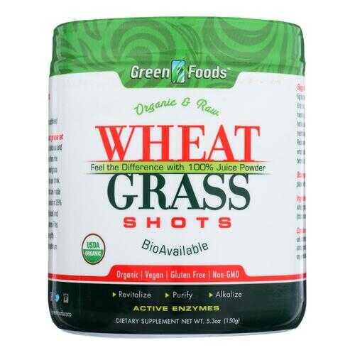 Green Foods Organic and Raw Wheat Grass Shots - 5.3 oz