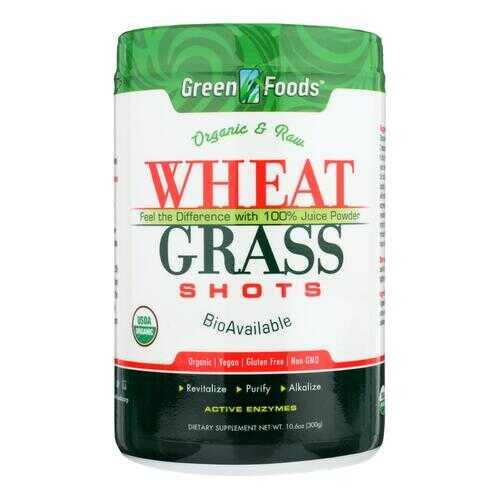 Green Foods Organic and Raw Wheat Grass Shots - 10.6 oz