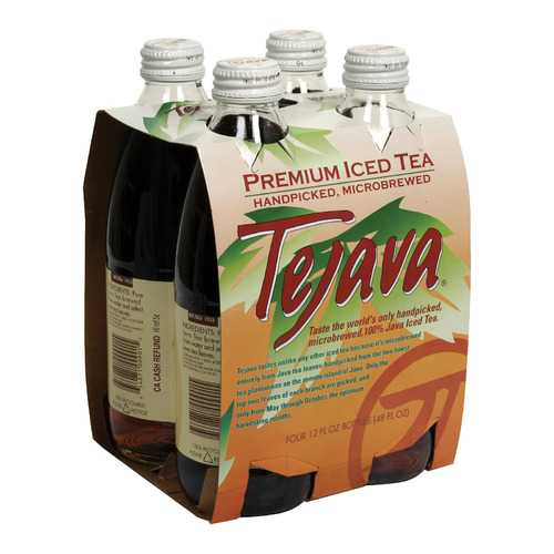 Tejava Black Tea - Unsweetened - Case of 6 - 12 oz.