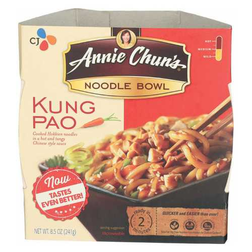 Annie Chun's Kung Pao Noodle Bowl - Case of 6 - 8.6 oz.
