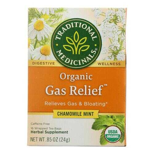 Traditional Medicinals Tea - Organic - Gas Relief - 16 bags - case of 6