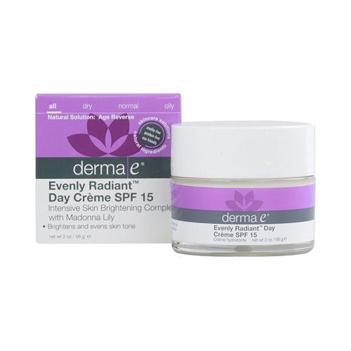 Derma E - Evenly Radiant Day Creme SPF 15 - 2 oz.