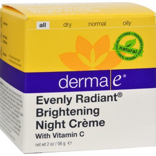Derma E - Evenly Radiant Night Creme - 2 oz.