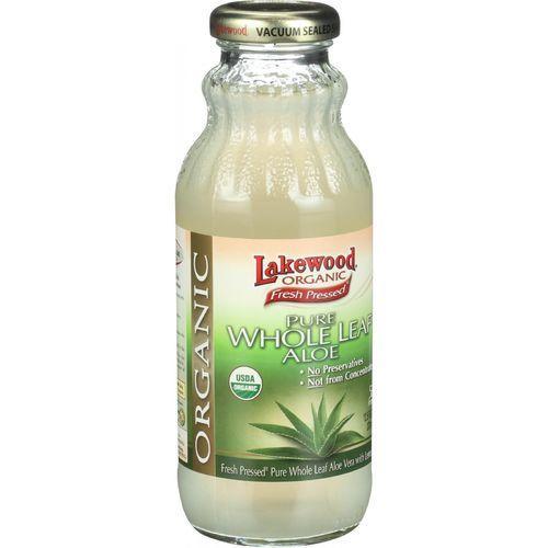 Lakewood Organic Aloe Juice - Whole Leaf - Fresh Pressed - with Lemon - 12.5 oz