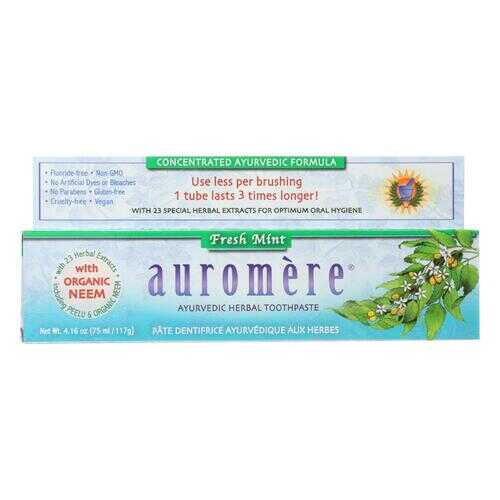 Auromere Toothpaste - Fresh Mint - Case of 1 - 4.16 oz.
