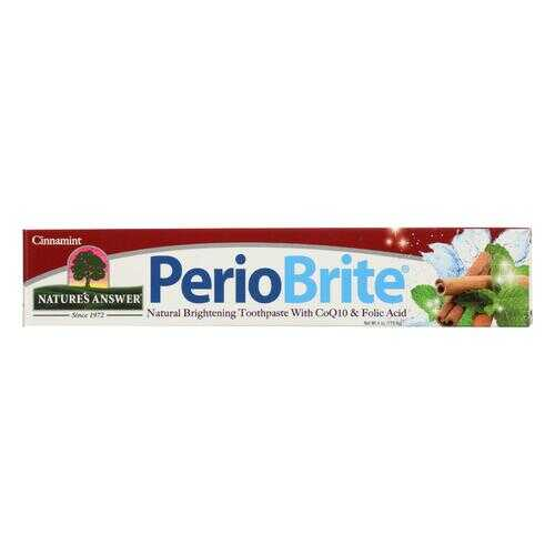 Nature's Answer - Periobrite Toothpaste - Cinnamon - 4 oz