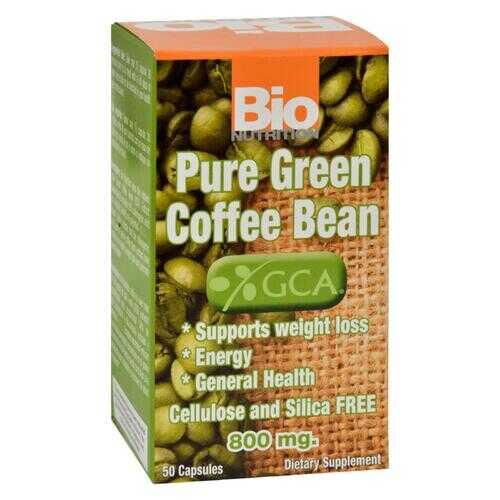 Bio Nutrition - Pure Green Coffee Bean - 50 Gelcaps