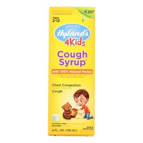 Hylands Homeopathic Cough Syrup - 100 Percent Natural Honey - 4 Kids - 4 oz