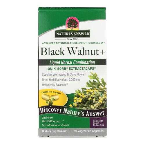 Nature's Answer - Black Walnut and Wormwood - 90 Liquid Capsules